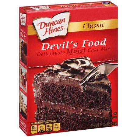 Duncan Hines Devil S Food Cake Mix Brownies