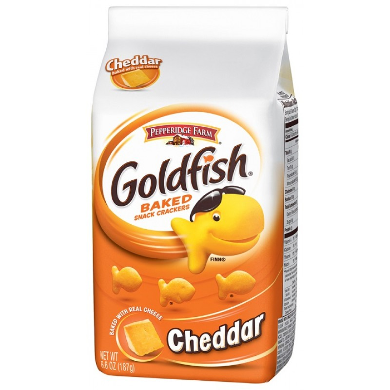 Goldfish crackers cheddar 187g american food store for Gold fish crackers