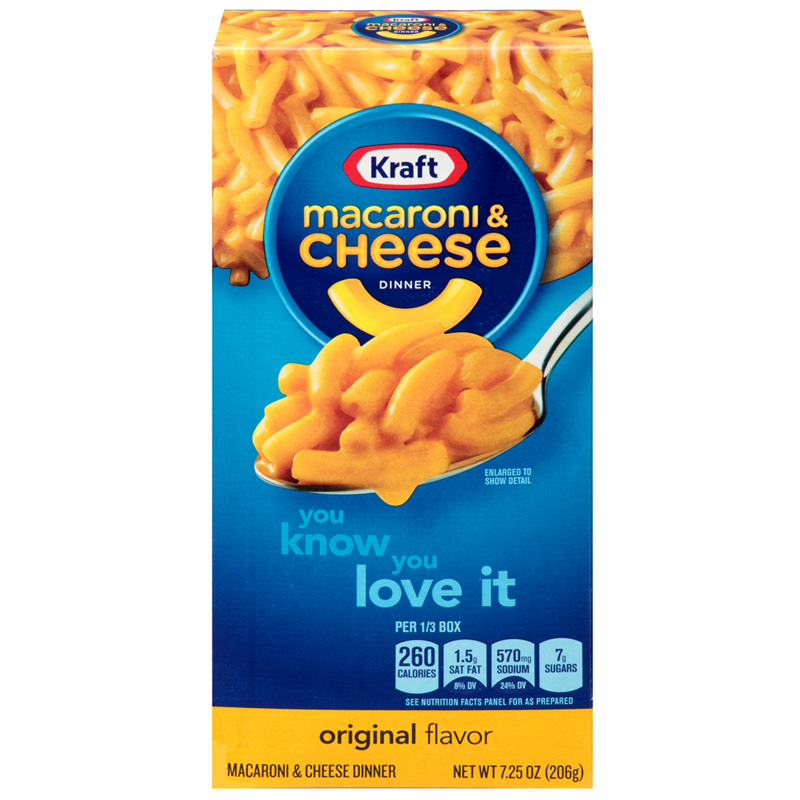 Kraft macaroni cheese 206g american imported for Craft macaroni and cheese
