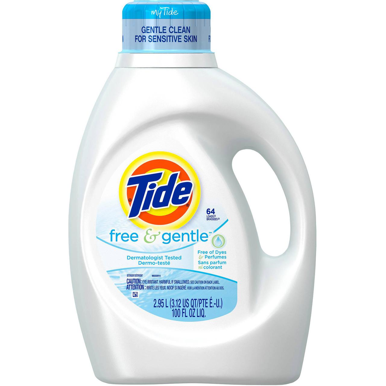 Tide Free Amp Gentle He 48 Loads Liquid Laundry Detergent 75