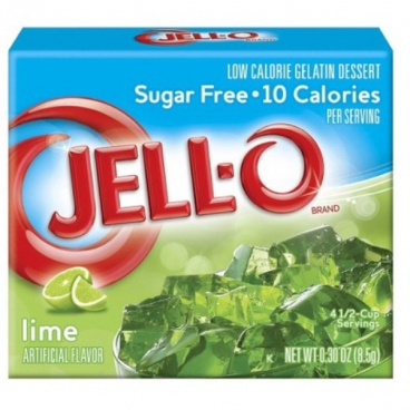 Jell-o Sugar Free Lime 8.5g, jello
