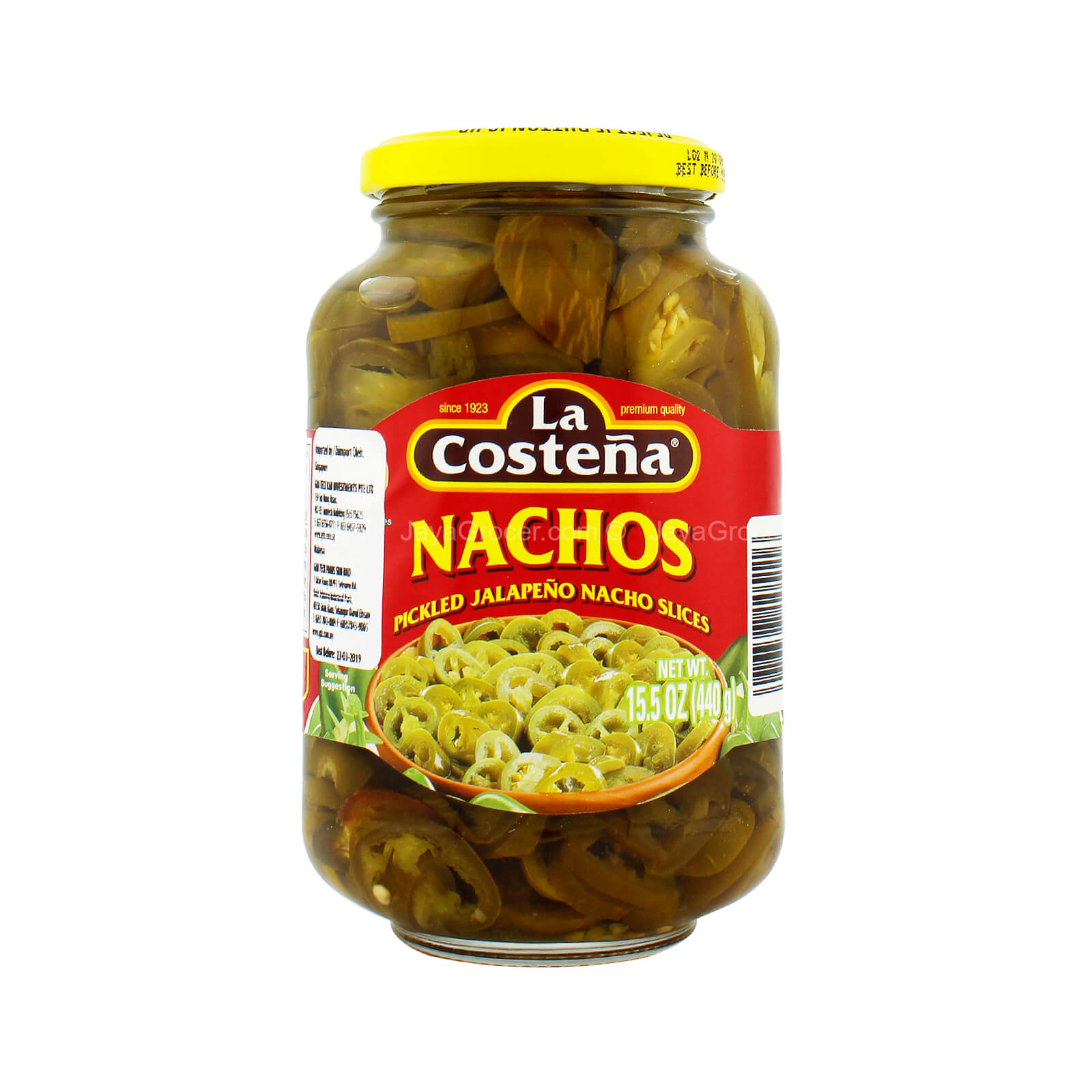 La Costena Nachos Pickled Jalapeno Nacho Slices