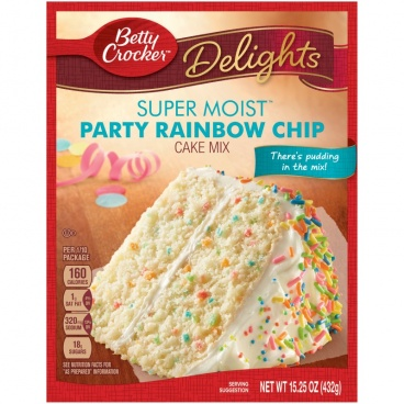 Betty Crocker Super Moist Party Rainbow Chip Cake Mix  432g - 12 Packs