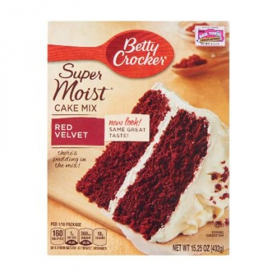 Betty Crocker Super Moist Red Velvet Cake Mix 15.25oz 432g