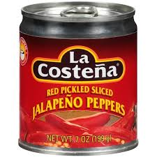 La Costena Red Pickled Sliced Jalapeno Peppers (199g) MEXICAN