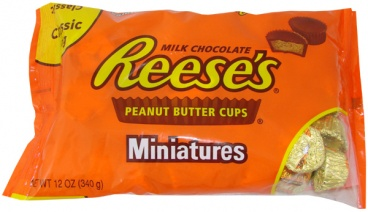 Reese's Peanut Butter Cups Milk Chocolate Miniatures 12oz 340g Reeses