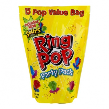 Topps Ring Pop Party Pack. 15 Count. Assorted flavors. (15 pcs per bag)