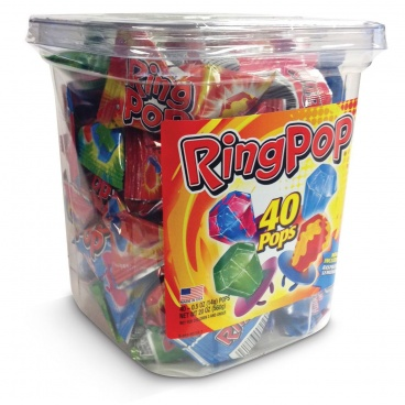 TOPPS ORIGINAL RING POP. Assorted flavors. Individually wrapped. (40 pcs per display unit)