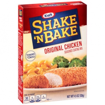 Kraft Shake 'n Bake Original Chicken Seasoned Coating Mix, 128g (4.5 oz)