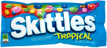 Skittles Tropical American Candy 61.5g (2.17oz) bag