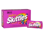 Skittles Wild Berry American Candy 2.17oz 61.5g bag Case Buy 36 Count