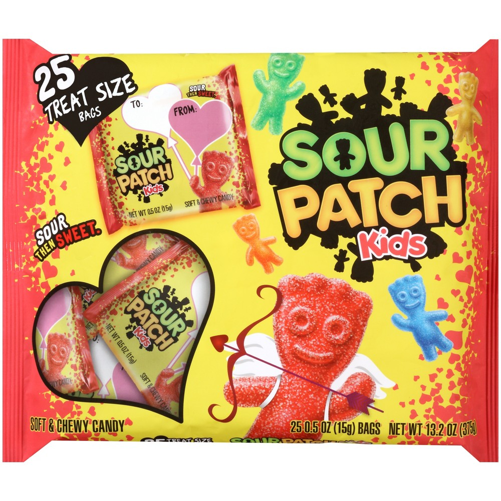 Sour Patch Kids Valentine 25 Exchangs Bags 375g