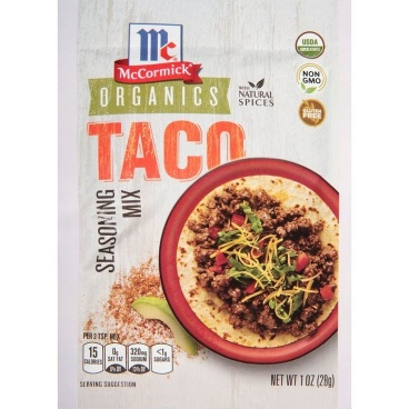 McCormick Organics Taco Seasoning Mix, 1.0 oz (28g)