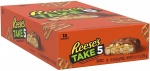 Reese's TAKE 5 Peanut Butter Milk Chocolate Candy Bar, 1.5 Ounce (Pack of 18)