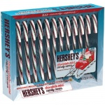Hershey's Holiday Chocolate Mint Candy Canes 5.28 oz - 12 Canes Pack