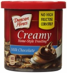 Duncan Hines Home Style Milk Chocolate Frosting 16oz 453g - 8 Packs CASE BUY