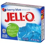 Jell-o Berry Blue Gelatin Dessert Jell-O 3oz 85g (2 packs)