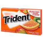 Trident Sugar Free Gum -Tropical Twist 14 STICKS]