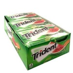 Trident Value Pack WATERMELON (Pack of 12) Sugarfree Gum CASE BUY