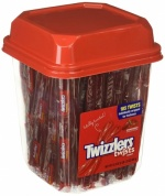 - Strawberry Twizzlers Licorice, Individually Wrapped, 2lb Tub (105 COUNT)