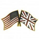 American - British Flag Lapel Pin USA-UK American Flag Lapel Pin