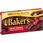 Bakers Semi-Sweet Baking Chocolate Bar 113g (4oz)