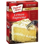 Duncan Hines Signature Lemon Supreme Deliciously Moist Cake Mix 468g - 12 Packs CASE BUY
