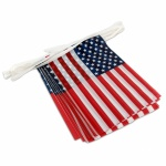 American Flag Pennant Streamers 30 ft