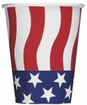 American Flag Cups 8CT. 9oz. 270ml