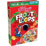 Froot Loops LARGE 14.7oz 417g box. American Kelloggs Froot Loops