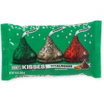 HERSHEY'S Kisses Holiday Milk Chocolate with Almonds, 10oz. Hersheys