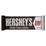 Hersheys Milk Chocolate Bar King Size 2.6oz 73g Hershey's CASE of 18 Bars
