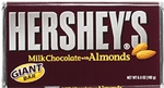 Hersheys Milk Chocolate with Almonds Giant Bar 192g (6.8 oz) Hershey's