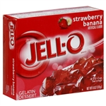 Jell-o Strawberry Banana Gelatine Dessert 85g (3oz) Jello