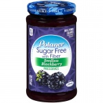 Polaner Sugar Free with fiber Seedless Blackberry Preserves (383g) Jam