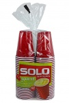 Solo Party Cups - Red 18oz - Red 50 Counts Square Base