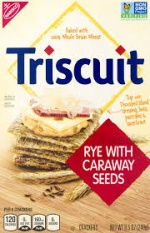 Triscuit woven with caraway seeds RYE  Pack of 2. 240g 8.5oz
