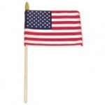 US Stick Flag 8'' x 12'' Standard - Wood Stick with Spear Tip
