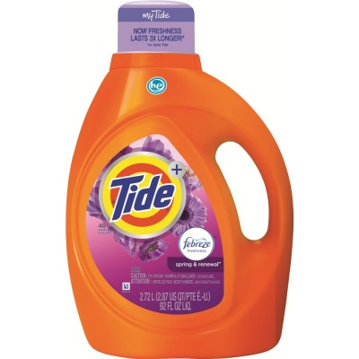 Tide Plus High Efficiency Turbo Clean Liquid Laundry Detergent,Spring & Renewal 92 fl oz (59 Loads)