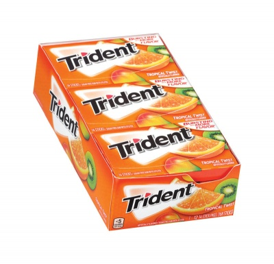 Trident Tropical Twist -sugarfree 14 sticks Casebuy 12 packs