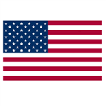 American US Flag Printed Polyester 3ft x 5ft with Grommets