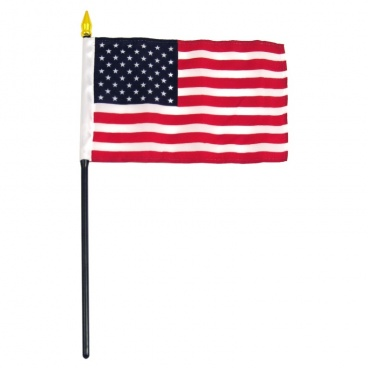 American Flag 4in x 6in USA Stick Flag Best Quality