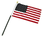 American Flag 8'' x 12 USA Stick Flag Best Quality