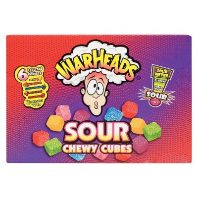 Warheads Sour Chewy Cubes (4oz) 113g