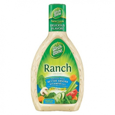 WishBone Ranch Salad Dressing  16oz  Wish Bone