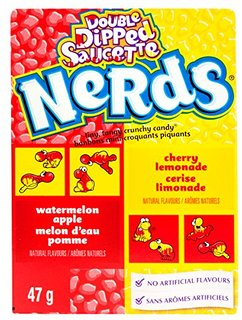 Wonka Nerds Double Dipped Watermelon Apple & Cherry Lemonade 47g