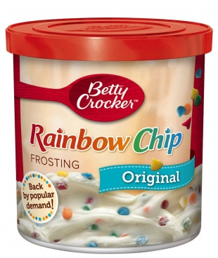 Betty Crocker Rich and Creamy Rainbow Chip Frosting 453g