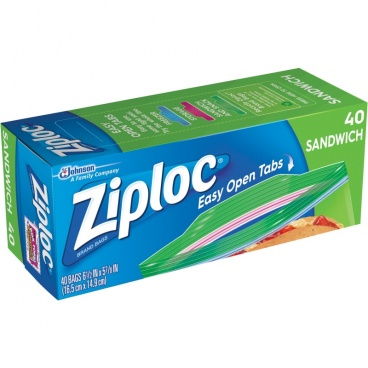 Ziploc Zipper Sandwich Bags, 40 Ct